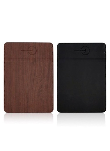 Bludfire Deri Mouse Pad Wireless Kablosuz Şarj Özellikli / BORDO Bordo